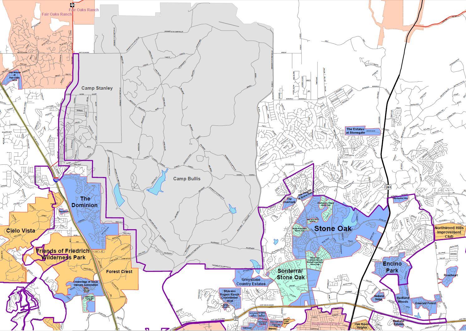 Loop 1604 Map Gallery