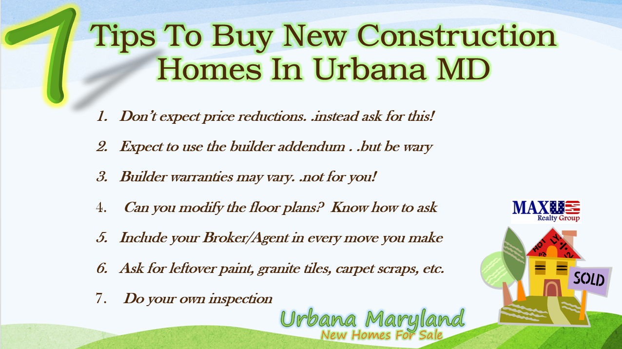 Urbana maryland new homes for sale for Home construction contract tips
