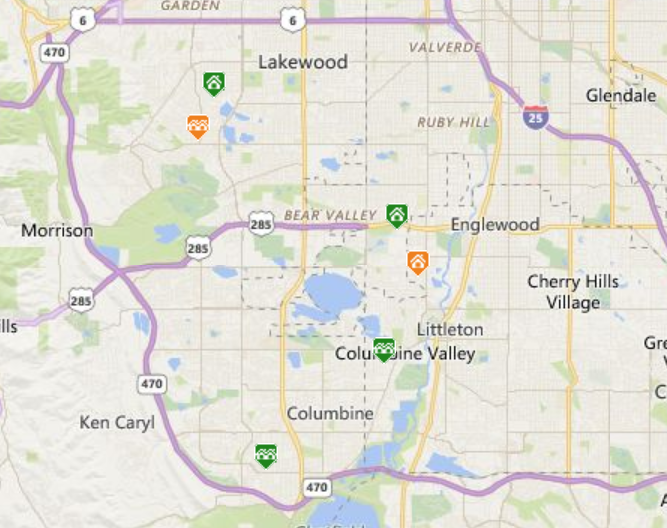 Map search of metro Denver homes for sale