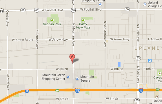 We are located right off the I-10 Freeway on Mountain Ave.