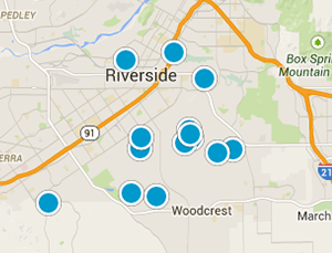 Riverside CA real estate for sale map