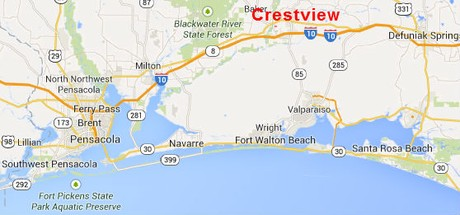 Fl Map Crestview Florida