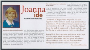 JoAnna Ide, Broker Associate with Roger Martin Properties