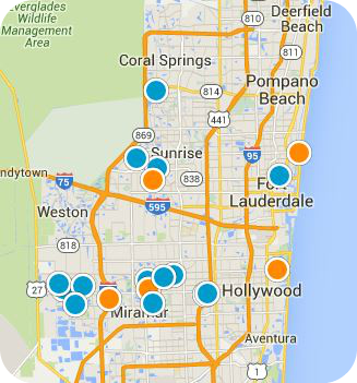 South Florida Real Estate Map