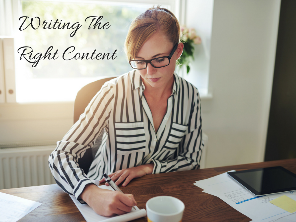 Writing The Right Content