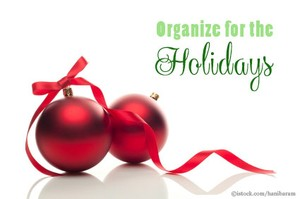 Come To Order, Organize for the Holidays, Richmond VA Professional Organizer