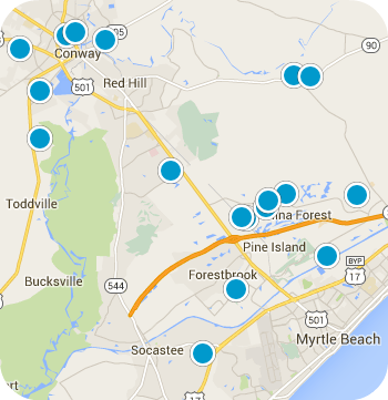 CONWAY SC REAL ESTATE MAP