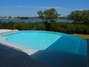 Casey Key New Home Pool and Bay View