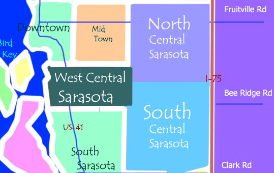 See all Central Sarasota Real Estate on the Map or Visit the Nearby Areas in Sarasota