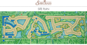 Sawgrass Site Plan in Venice Florida