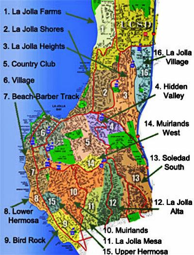 La Mesa Zip Code Map.La Jolla San Diego Zip Code Map