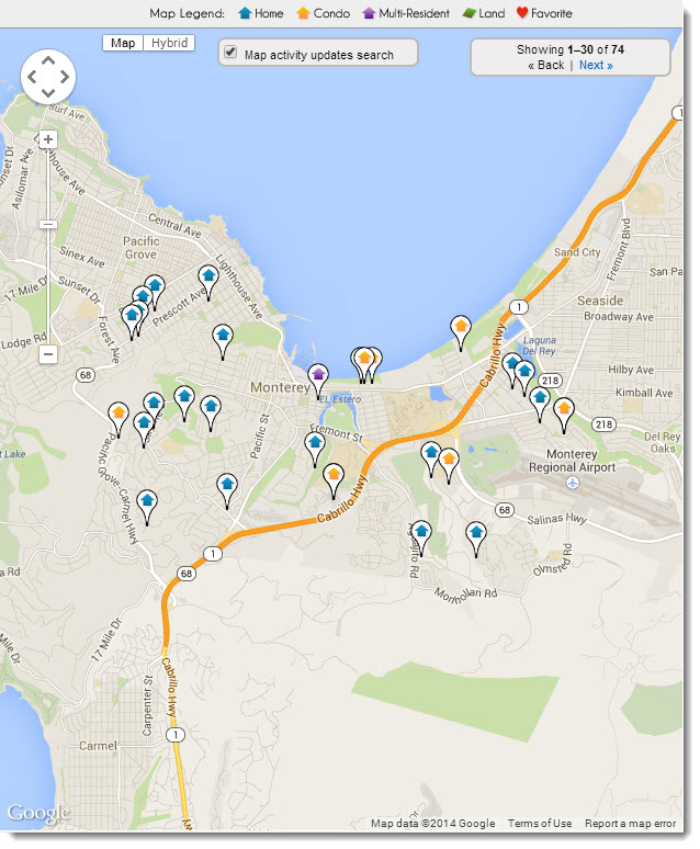 Monterey Real estate map