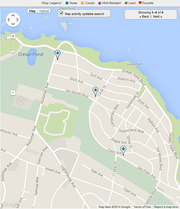 Pacific Grove Golf Course Real Estate Map