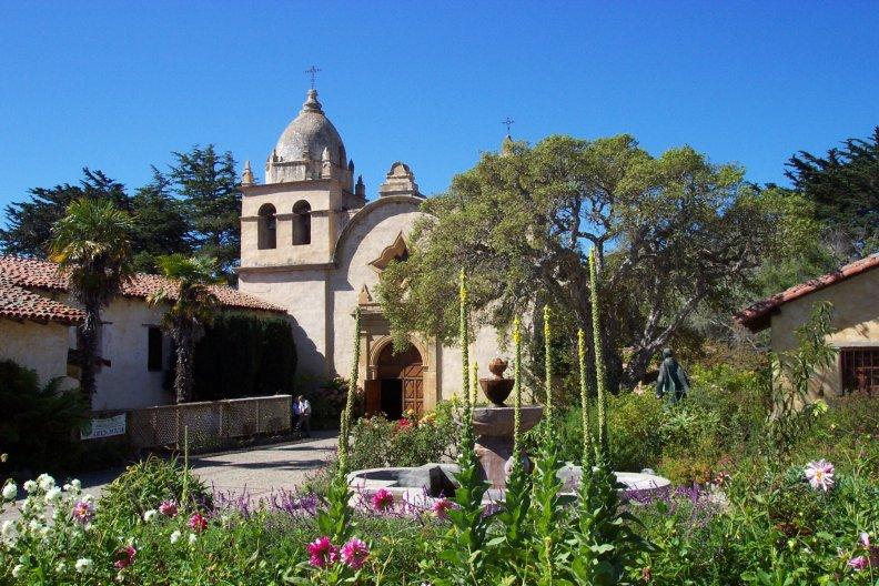 Carmel Mission in Mission Fileds, Carmel, CA