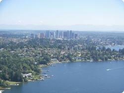 Bellevue Skyline from Float Plane