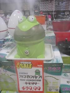 Cute frog humidifier