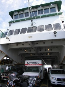 Ferry Loaded with Vehicles