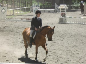 Christine showing her rehabilitated Arabian mare Crystal for the first time.