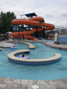 Lazy River and Waterslides at the Henry Moses Aquatic Center in Renton