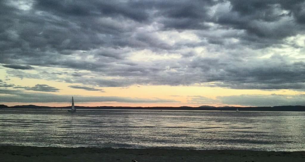 Ballard, Beach, Golden Gardens Sunset in Seattle