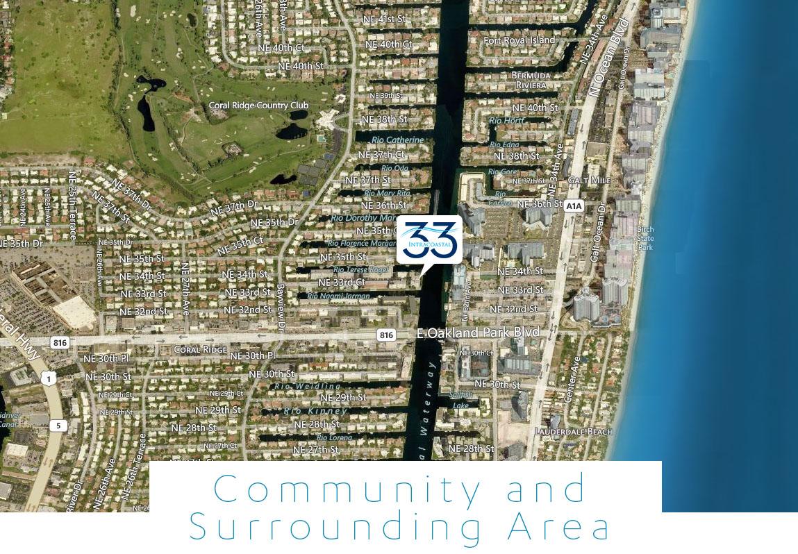 Intercoastal New Construction In Coral Ridge Country Club - Florida map viera