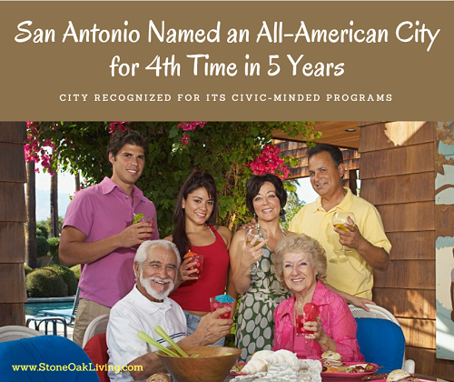 San Antonio receives its another All-American City Award from the National Civic League, the fourth in five years, for its efforts in creating an inclusive community for all.