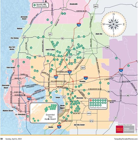 Tampa Bay Parade of Homes Map of local new construction builders