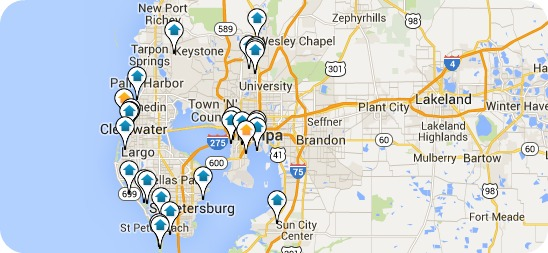 Tampa Bay Real Estate | Search by Map