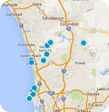 San Diego North County Real Estate Map