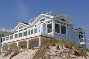 Cottage on dune.