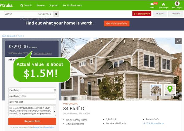 Trulia Home Value