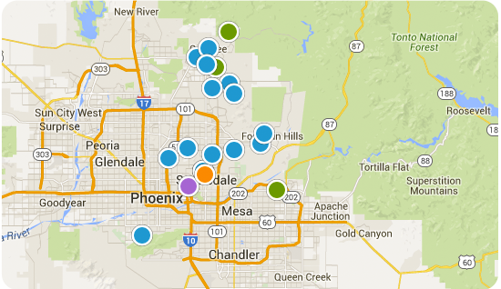 Search Scottsdale Homes By Map