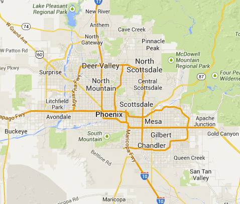 Area Code Map Phoenix Az Area Wiring Diagram And Circuit