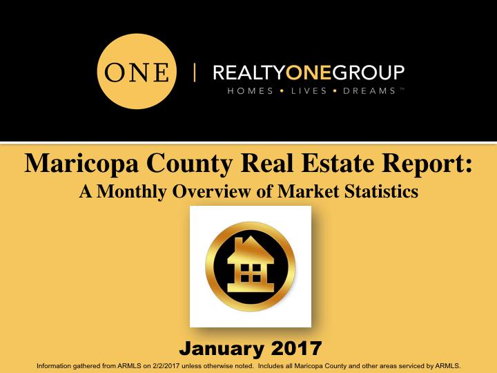 January 2017 MLS Market Report for Phoenix