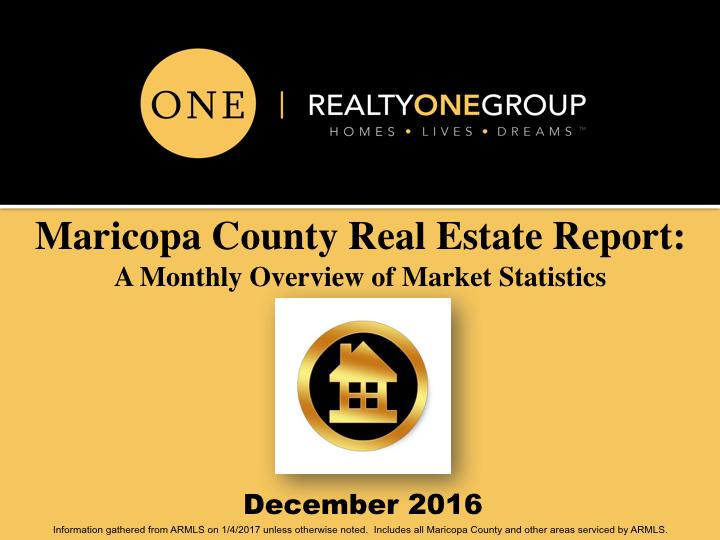 December 2016 Phoenix MLS Market Report