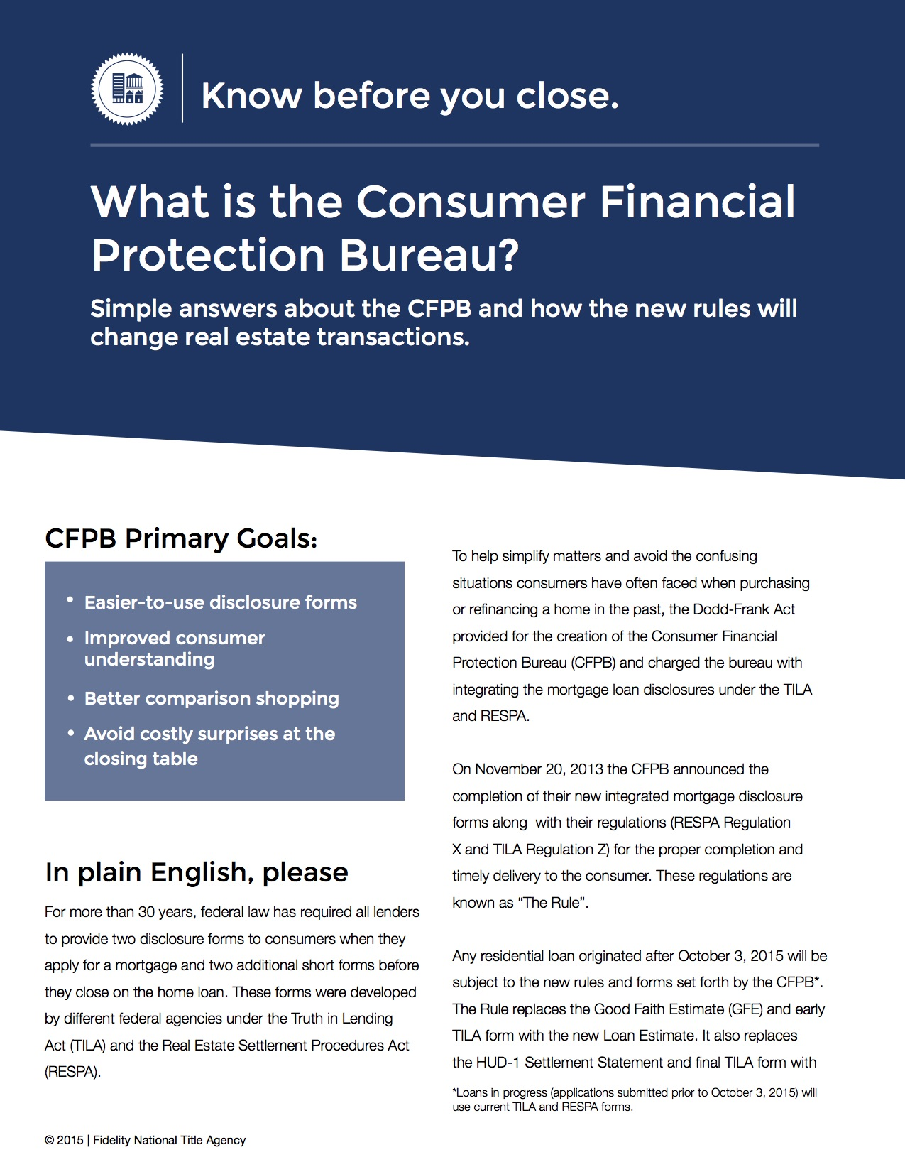 how the cfpb and trid will change your home buying experience