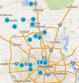 Woodlands Real Estate Map