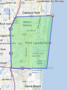 Fort Lauderdale Real Estate Investment Area Map