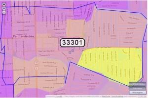 Downtown Fort Lauderdale Zip Code Map