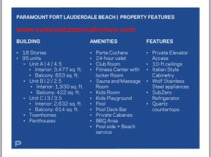Paramount Fort Lauderdale Beach Property Features