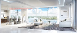Privage Fort Lauderdale Living Room Rendering