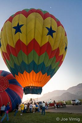 Balloon ready to ascend.