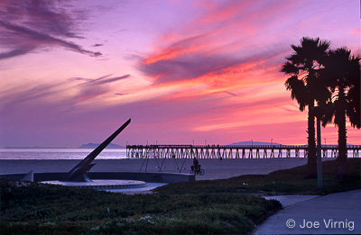 Port Hueneme Memorial Sundial at Sunset