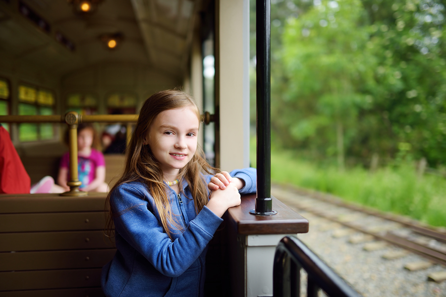 Lake Delton home owners ride the train.