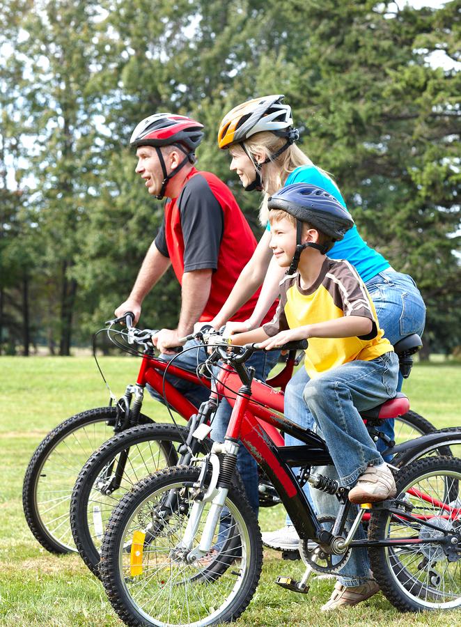Go bike riding on Lake Delton property.