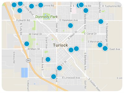 Central Valley Real Estate Map Search