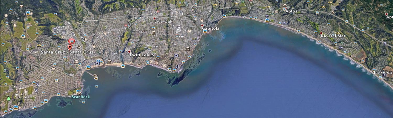 Santa Cruz Area Aerial