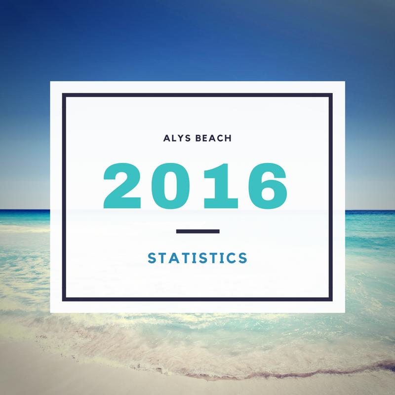 2016  Alys Beach Stats