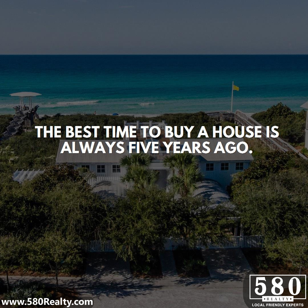 The best time to Buy a House is always Five Years ago