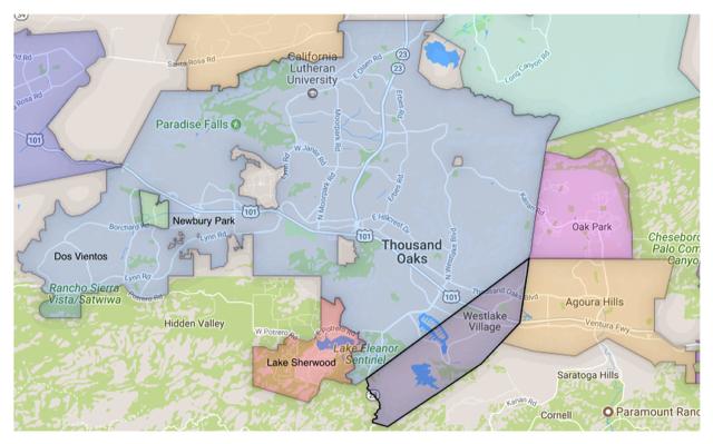 Conejo Valley Map